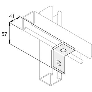 2 Hole 90 Degree Channel Angle Brackets